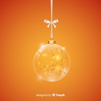 Golden realistic christmas ball