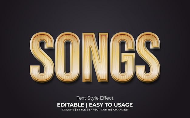 Golden realistic text style effect