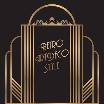 Золотой ретро-дизайн-рамка-фон