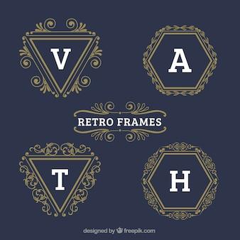 Golden retro frames