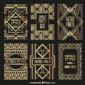 golden-retro-posters_23-2147510039 Ideas For Art Deco Vector Free @koolgadgetz.com.info