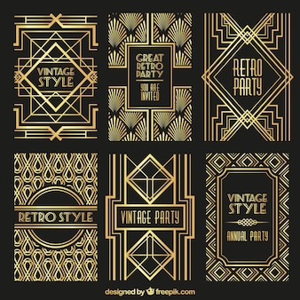 Art deco vectors photos and psd files free download golden retro posters toneelgroepblik