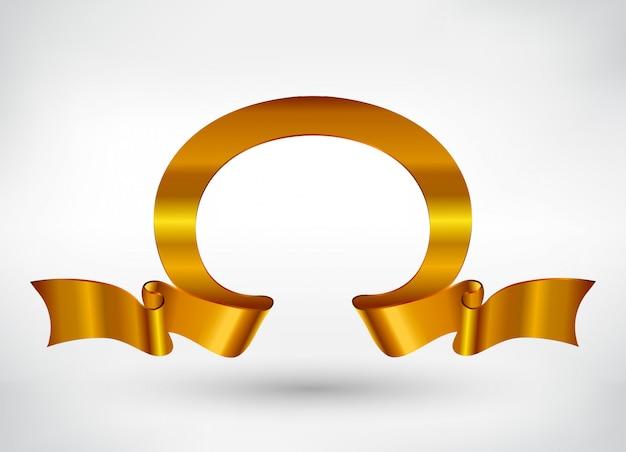 Golden ribbon banner
