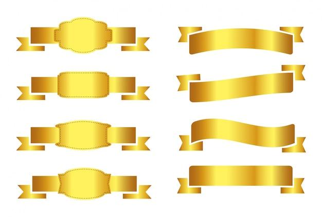 Collezione di nastro dorato
