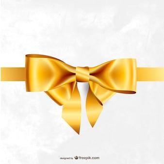 金色のリボンベクトル