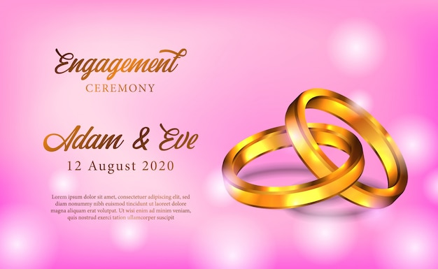 Golden ring engagement ceremony