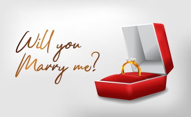 Golden ring engagement ceremony