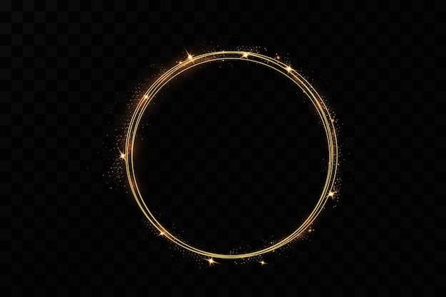 金の指輪。豪華な輝くフレーム。