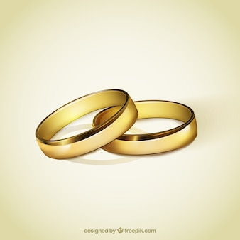 Golden rings for wedding