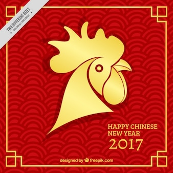 Golden rooster for chinese new year
