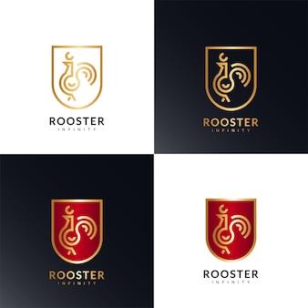 Golden rooster infinity logo