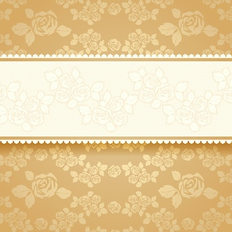 黄金のバラのバナー