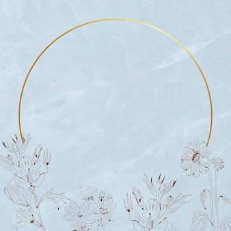 Шаблон рекламы socila с золотой круглой рамкой