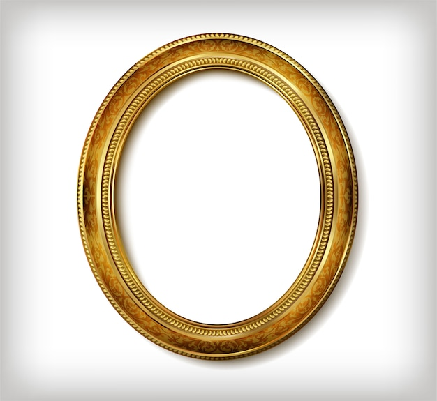 Golden royal oval frame photo