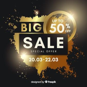 Golden sale background