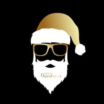 Golden santa claus