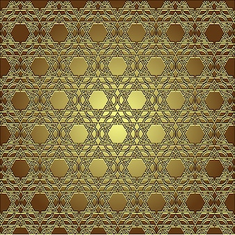 Golden seamless eastern ornament seamless pattern background