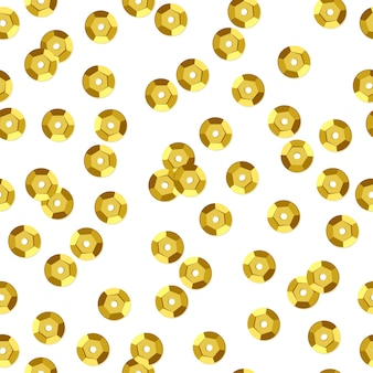 黄金のスパンコールのシームレスなパターン。