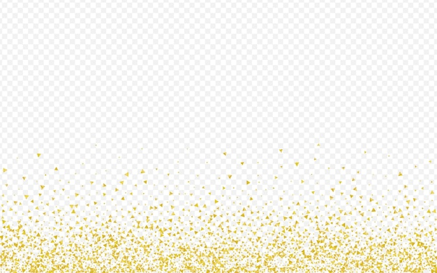 Golden shards luxury transparent background. rich sparkle card. gold shard effect wallpaper. sequin happy pattern.