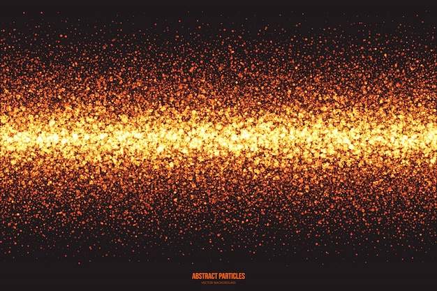 Golden shimmer glowing particles  background