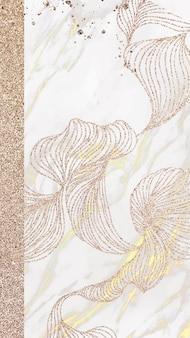 황금빛 반짝이는 문양의 라인 휴대폰 벽지 벡터