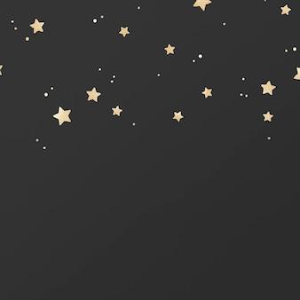 Golden shimmery stars pattern on black background