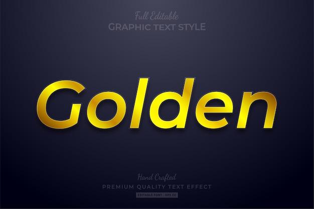 Стиль шрифта с редактируемым текстовым эффектом golden shine