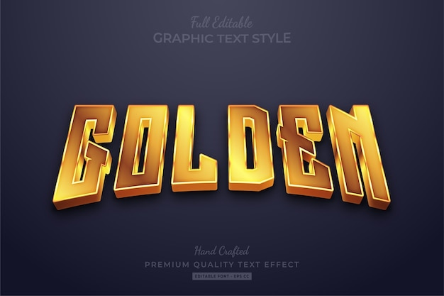 Golden shine editable text effect