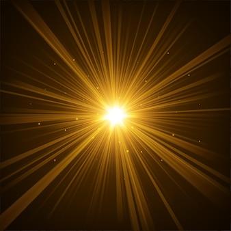 暗い背景の黄金の輝き