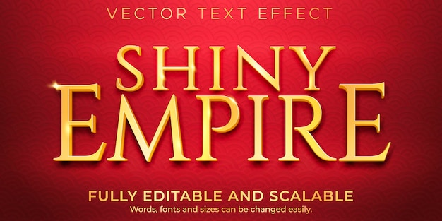 Golden shiny text effect, luxury and elegant text style
