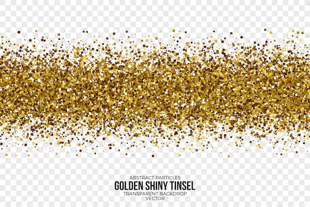 Golden shiny tinsel abstract vector background