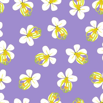 Золотой цветок для душа на фиолетовом фоне