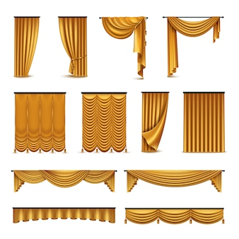 Golden silk velvet luxury curtains