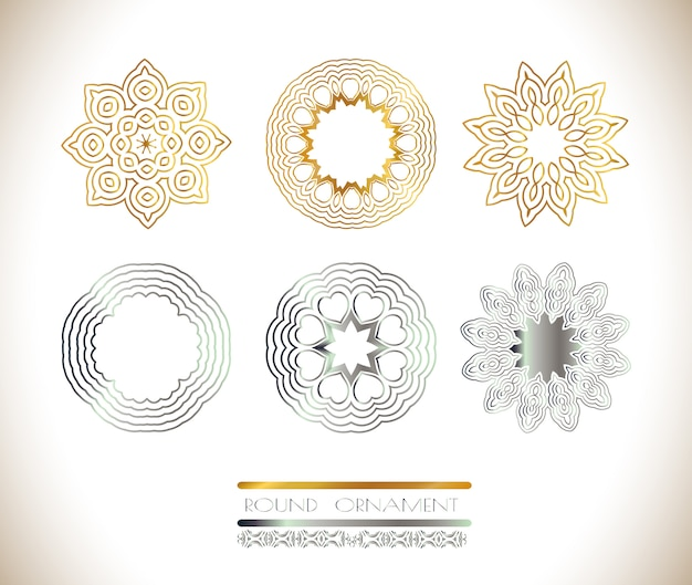 Golden and silver mandala