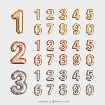 Golden and silver number collection