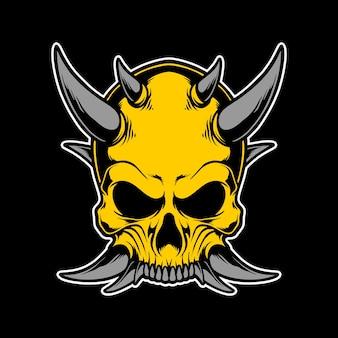 Golden skull head