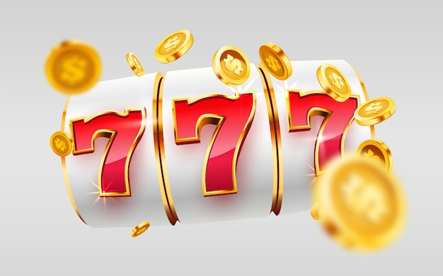 Игровой автомат golden выигрывает большой выигрыш джекпота, джекпот казино Premium векторы