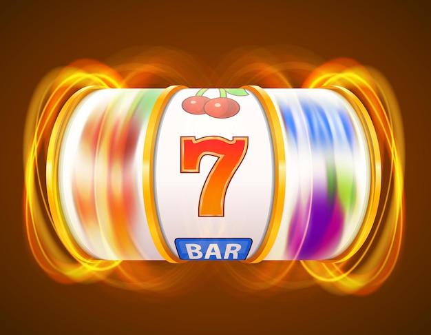 ゴールデン スロット マシンがジャック ポットを獲得します。カジノ
