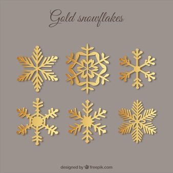 Golden Snowflakes Collection