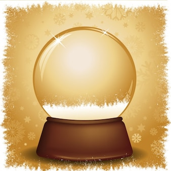 Golden snowglobe