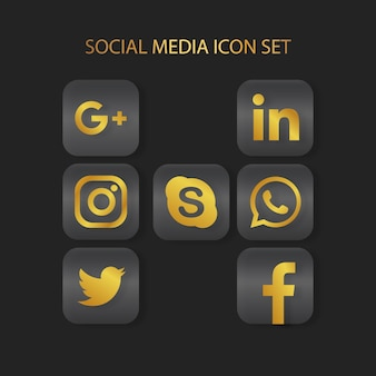 골든 sosial 미디어 아이콘을 설정