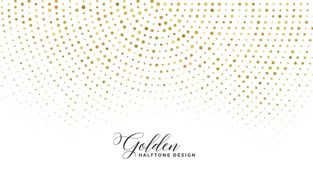白い背景の上の黄金の輝きハーフトーン