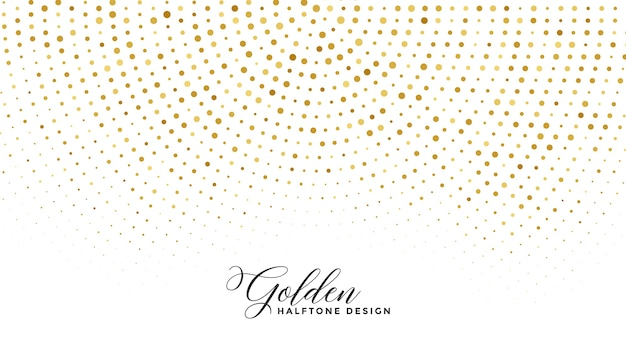 Golden sparkle halftone on white background