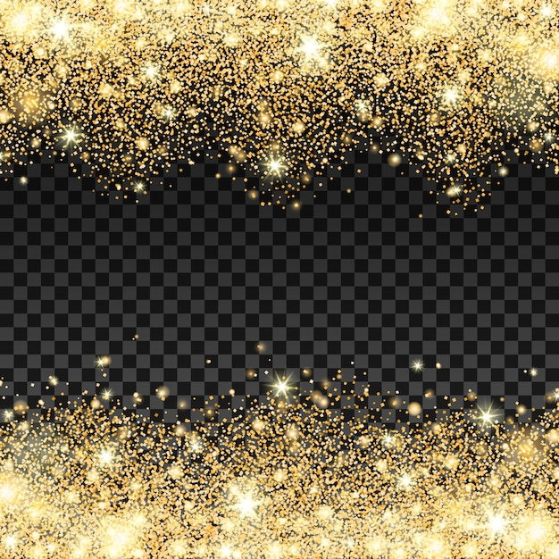 Captivating Golden Sparkles Background