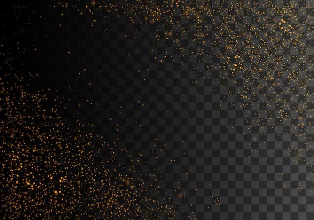 Golden sparkling dust