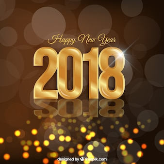 Golden sparkly new year background