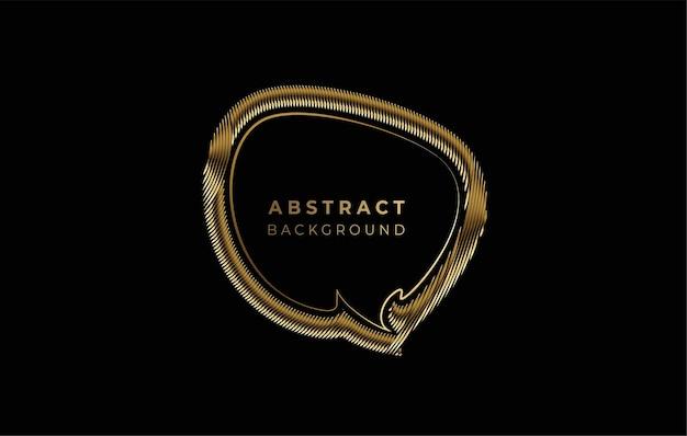 黄金の吹き出しイラスト光沢のあるベクトルデザイン要素。