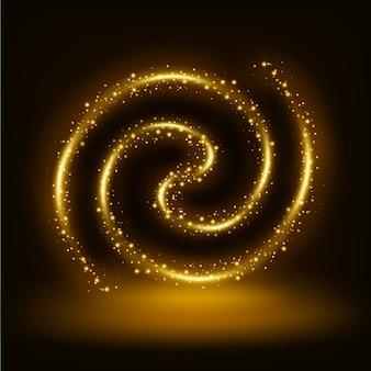 Golden Spiral shiny frame background