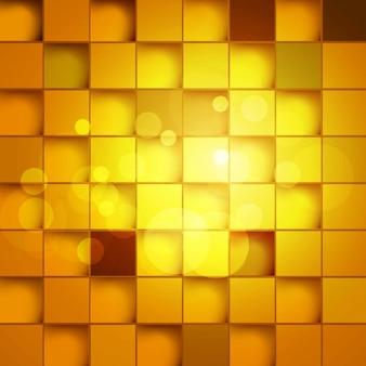 Golden square blocks background