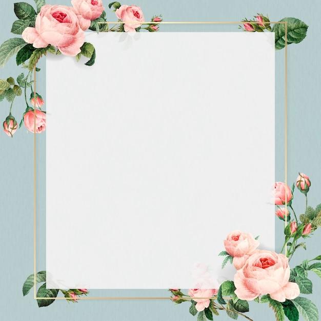 Golden square frame design vector